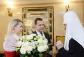 В преддверии дня тезоименитства Предстоятеля Русской Православной Церкви поздравил председатель Правительства Российской Федерации Д.А. Медведев