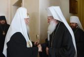 Предстоятель Болгарской Православной Церкви совершил молебен в крестовом храме резиденции Святейшего Патриарха Московского и всея Руси