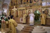 В годовщину архиерейской хиротонии Предстоятель Русской Церкви совершил Литургию в Преображенской церкви Храма Христа Спасителя
