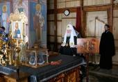 Во вторник первой седмицы Великого поста Святейший Патриарх Кирилл молился за уставным богослужением в Покровском Хотьковом монастыре