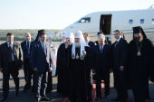 Святейший Патриарх Кирилл прибыл в Красноярск