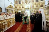 Предстоятель Русской Церкви посетил Покровский кафедральный собор Красноярска