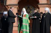 Святейший Патриарх Кирилл посетил Крестовоздвиженский собор г. Лесосибирска