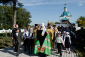 Предстоятель Русской Церкви посетил Спасо-Преображенский мужской монастырь в Енисейске