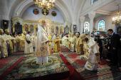 Святейший Патриарх Кирилл совершил Божественную литургию в Воскресенском кафедральном соборе Токио