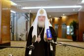 Святейший Патриарх Кирилл: Буду молиться святому равноапостольному Николаю, чтобы он помог нам начать новую страницу в отношениях России и Японии