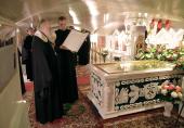Святейший Патриарх Кирилл прибыл в Иоанновский ставропигиальный монастырь на Карповке