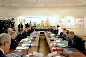 Святейший Патриарх Кирилл и премьер-министр РФ Д.А. Медведев провели заседание Попечительского совета Благотворительного фонда по восстановлению Воскресенского Ново-Иерусалимского монастыря