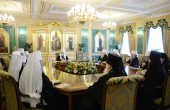 В Патриаршей и Синодальной резиденции в Даниловом монастыре открылось очередное заседание Священного Синода Русской Православной Церкви