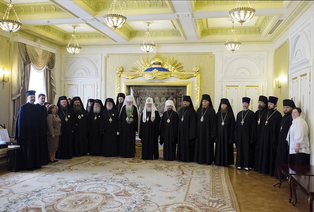 Встреча Предстоятелей и делегаций Русской и Болгарской Православных Церквей в Даниловом монастыре