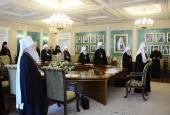 Завершилось первое заседание зимней сессии 2012-2013 гг. Священного Синода Русской Православной Церкви