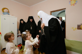 Предстоятель Русской Церкви посетил православную гимназию и детский приют «Отрада» при Свято-Никольском Черноостровском монастыре г. Малоярославца