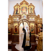 Святейший Патриарх Кирилл совершил освящение храма-часовни на месте ставки Кутузова в Малоярославце
