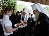 Предстоятели Русской и Болгарской Церквей посетили Посольство Болгарии в Москве
