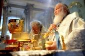 В праздник Вознесения Господня Предстоятели Русской и Болгарской Православных Церквей совершили Литургию в Казанском соборе Санкт-Петербурга