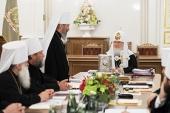 В Санкт-Петербурге началось очередное заседание Священного Синода Русской Православной Церкви