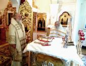 В день памяти святых отцов I Вселенского Собора Святейший Патриарх Кирилл совершил Литургию в домовом храме Патриаршей резиденции в Переделкине