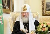 Святейший Патриарх Кирилл: Сейчас необходимо мобилизовать все духовные силы, чтобы противостоять вражде и жестокости крепкой верой и искренней любовью к ближним и дальним