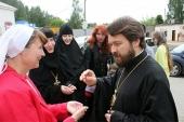 Митрополит Волоколамский Иларион посетил Свято-Елиcаветинский монастырь и храмы Минска
