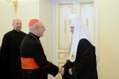 Святейший Патриарх Кирилл встретился с почетным председателем Папского совета по культуре кардиналом Полем Пупаром