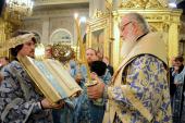 В канун праздника Казанской иконы Божией Матери Святейший Патриарх Кирилл совершил всенощное бдение в Богоявленском кафедральном соборе в Елохове
