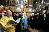 Святейший Патриарх Кирилл посетил Гробницу Божией Матери в Гефсимании