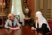 Святейший Патриарх Кирилл встретился с заместителем председателя Правительства России О.Ю. Голодец
