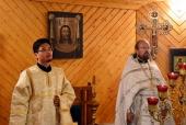 Впервые священнослужитель-японец участвовал в Литургии на малой родине равноапостольного Николая Японского