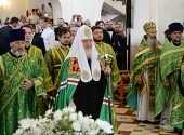 Предстоятель Русской Церкви освятил храм святого праведного Иоанна Кронштадтского в Рязани