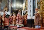 Слово Святейшего Патриарха Кирилла в день памяти святых равноапостольных Кирилла и Мефодия после Литургии в Храме Христа Спасителя