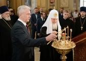 Святейший Патриарх Кирилл и мэр Москвы С.С. Собянин посетили столичный храм священномученика Климента, папы Римского