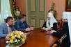 Встреча Святейшего Патриарха Кирилла с губернатором Тамбовской области О.И. Бетиным и митрополитом Тамбовским Феодосием