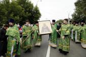 В Нижний Новгород принесена чтимая икона преподобного Сергия из Троице-Сергиевой лавры