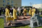 Святейший Патриарх Кирилл совершил закладку храма св. Георгия Победоносца на территории Тюменского президентского кадетского училища