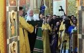 Святейший Патриарх Кирилл совершил молитву о мире на Украине
