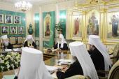 Святейший Патриарх Кирилл возглавил последнее в 2012 году заседание Священного Синода Русской Православной Церкви