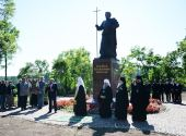 Предстоятель Русской Церкви совершил освящение памятника святому апостолу Андрею Первозванному на Валааме