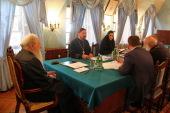 Митрополит Крутицкий Ювеналий возглавил заседание правления Благотворительного фонда по восстановлению ансамбля Новодевичьего монастыря