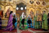 Слово Святейшего Патриарха Кирилла по окончании Литургии в Преображенском соборе Валаамского монастыря