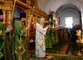 В канун дня памяти преподобных Сергия и Германа Валаамских Святейший Патриарх Кирилл совершил всенощное бдение в Спасо-Преображенском соборе Валаамского монастыря
