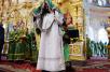 Патриарший визит на Валаам. Литургия в верхнем храме Спасо-Преображенского собора. Хиротония архимандрита Симона (Морозова) во епископа Шахтинского и Миллеровского