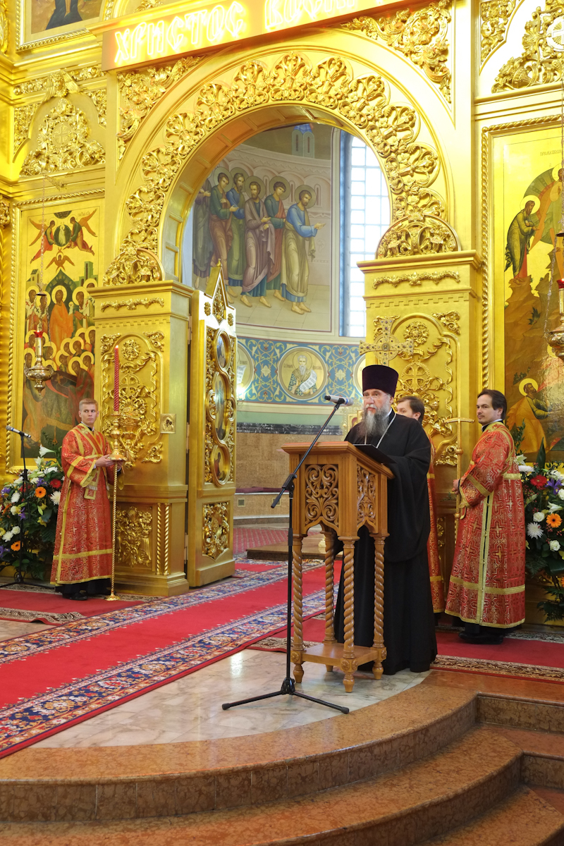 Патриаршее служение в праздник перенесения мощей святителя Николая из Мир Ликийских в Бар в Николо-Угрешском монастыре