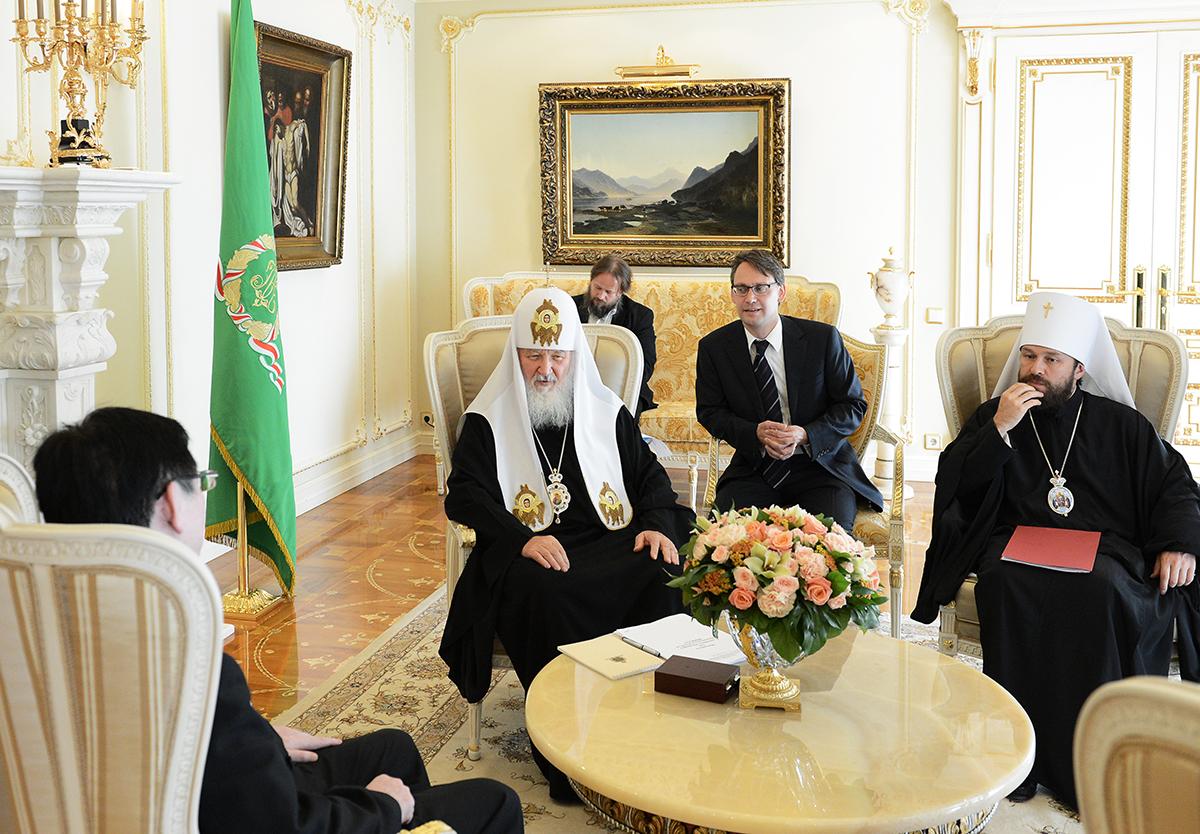 Встреча Предстоятеля Русской Православной Церкви с руководителем Государственного управления КНР по делам религий
