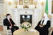 Предстоятель Русской Православной Церкви встретился с руководителем Государственного управления КНР по делам религий