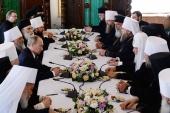 Состоялась встреча Президента РФ В.В. Путина со Святейшим Патриархом Кириллом, постоянными членами Священного Синода Русской Православной Церкви и главами делегаций Поместных Православных Церквей