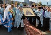 В Минск из Троице-Сергиевой лавры принесена чтимая икона преподобного Сергия Радонежского с частицей мощей
