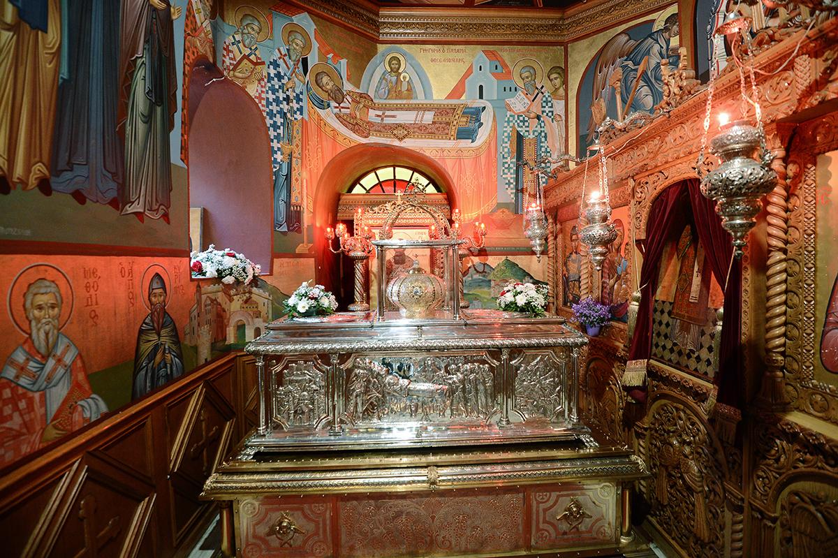 Визит Святейшего Патриарха Кирилла в Грецию. Молебен в кафедральном соборе во имя святителя Григория Паламы в Салониках