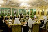 В Даниловом монастыре в Москве началось очередное заседание Священного Синода Русской Православной Церкви