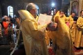 Протоиерей Владимир Агибалов, избранный епископом Новокузнецким и Таштагольским, пострижен в монашество и возведен в сан архимандрита