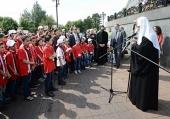 Святейший Патриарх Кирилл встретился с группой детей-сирот из Сирии
